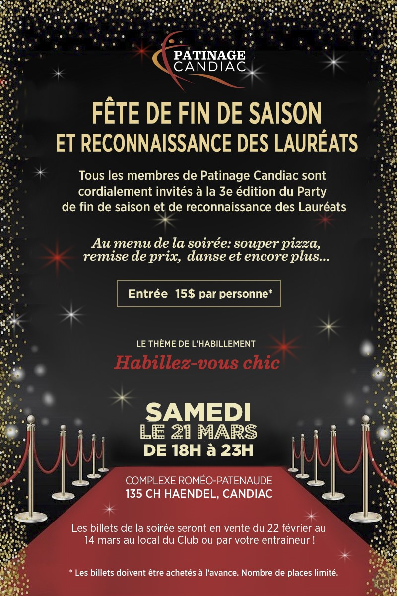 invitation party fin de saison 21 mars 2020